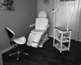 De praktijkruimte van Pedicurepraktijk Oldambt
